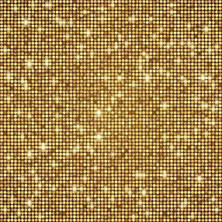 Shining abstract gold seam;ess mosaic background. Disco style