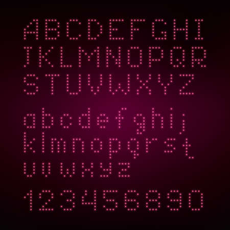 marriage night: Shining alphabet font set of glittering pink sparkles
