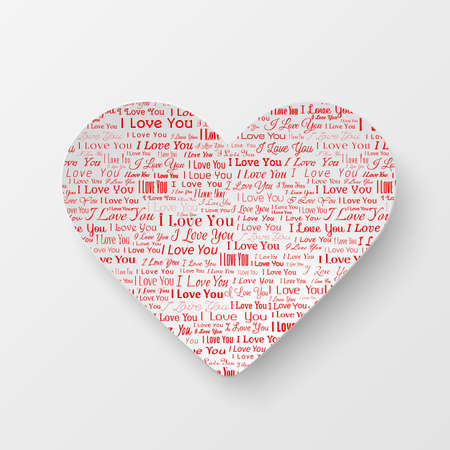 newspaper texture: Paper heart with newspaper texture, Valentines day card on white background