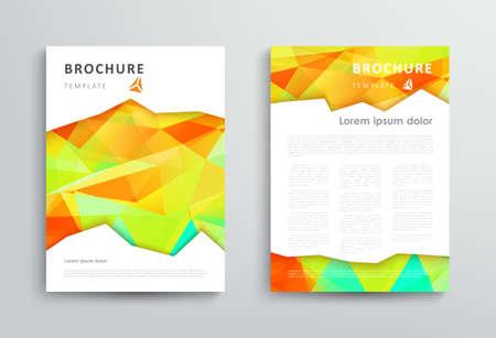 Broschüre Design-Vorlage mit abstraktem polygonal Hintergrund. Vektor-Illustration Illustration