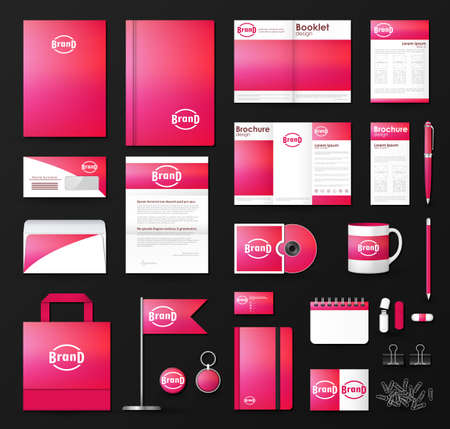 envelope: Corporate identity template set. Business stationery mock-up with soft  blurred background and logo.
