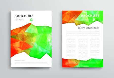 Abstract triangular brochure design template, vector illustration.