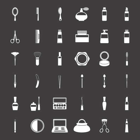 Beauty and makeup icons, vector illustration.