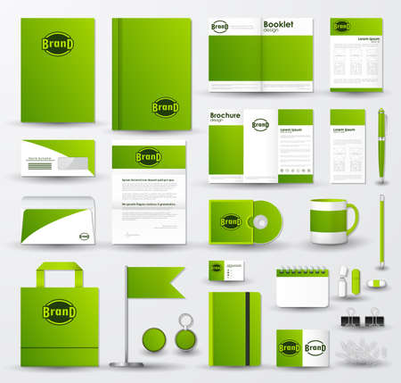 Business corporate identity template set with logo vector illustration.