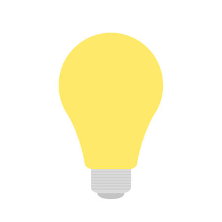 Bright yellow light isolated on white background