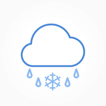 Icon weather cloud and sleet on a white background 向量圖像