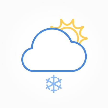Icon weather sun and cloud on a white background