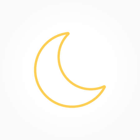 Icon weather moon on a white background 向量圖像