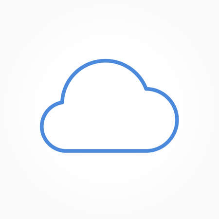 Icon weather cloud on a white background