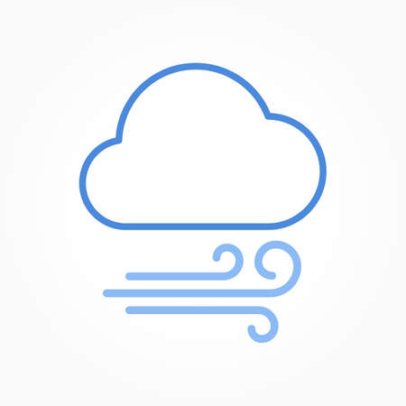 Icon weather wind and cloud on a white background 向量圖像