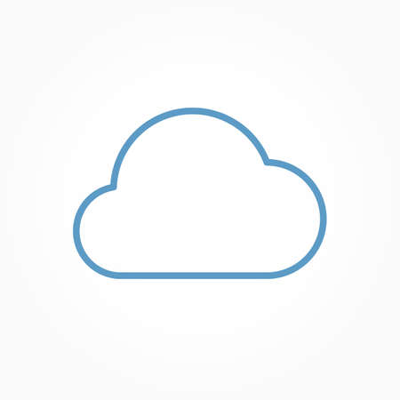 Icon weather cloud on a white background Stok Fotoğraf - 112157181