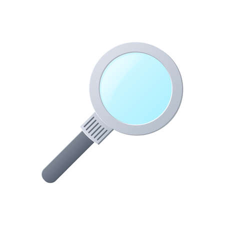 Magnifier, color icon isolated on a white background. Stok Fotoğraf - 112157183