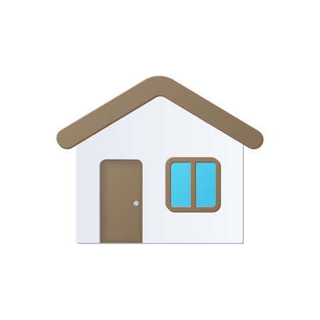 House, color icon isolated on a white background. Stok Fotoğraf - 112157185
