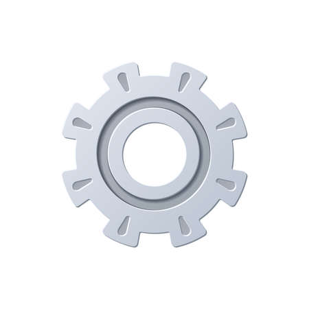 Gear, color icon isolated on a white background. Stok Fotoğraf - 112157201