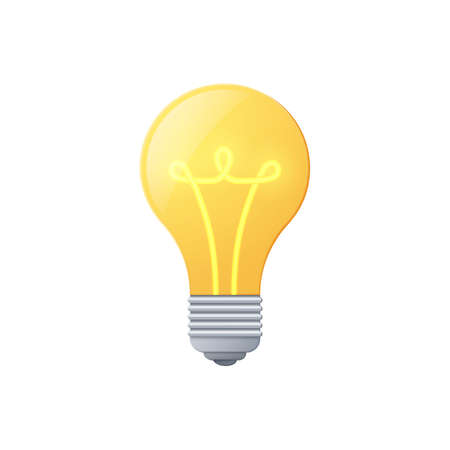 Light bulb, color icon isolated on a white background.