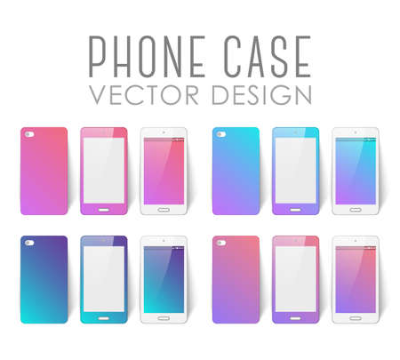 Set of covers and backgrounds for mobile phone screen Stok Fotoğraf - 112082067