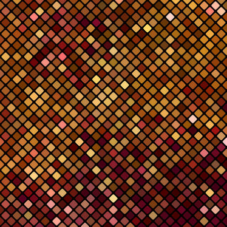 Abstract bright mosaic pattern of squares with rounded corners