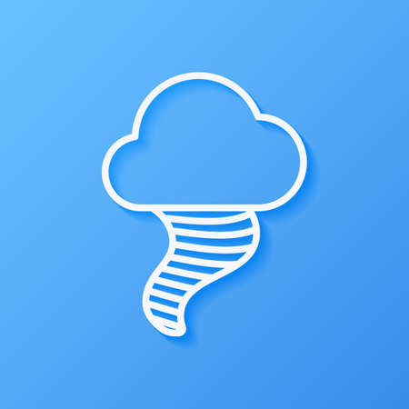 Icon weather tornado and cloud on a blue background Stok Fotoğraf - 112082086