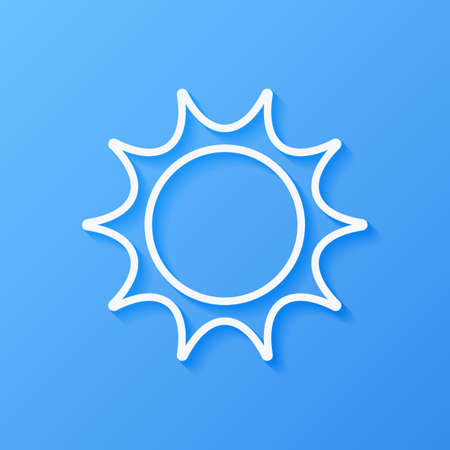 Icon weather sun on a blue background