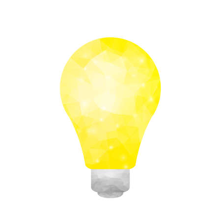Abstract polygonal yellow light isolated on white background Stok Fotoğraf - 112082090