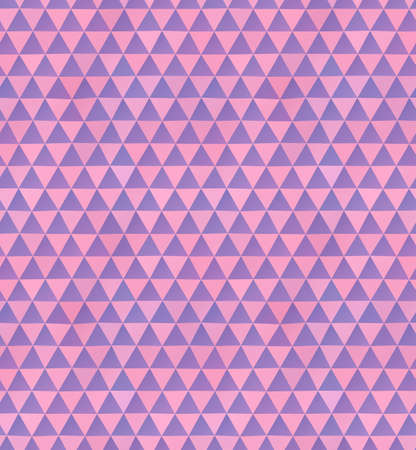 Abstract seamless pattern of irregular triangles in pink and purple colors Çizim