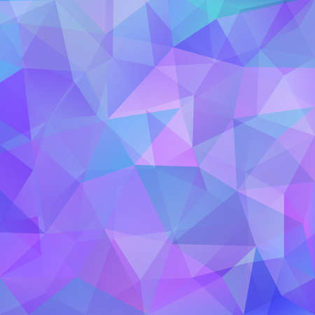 Abstract polygonal background in bright blue pink colors