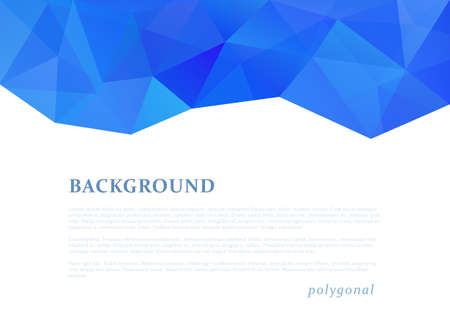 Abstract triangle pattern background advertising banner template Çizim