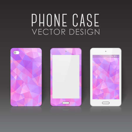 Case for mobile phone with polygonal mosaic