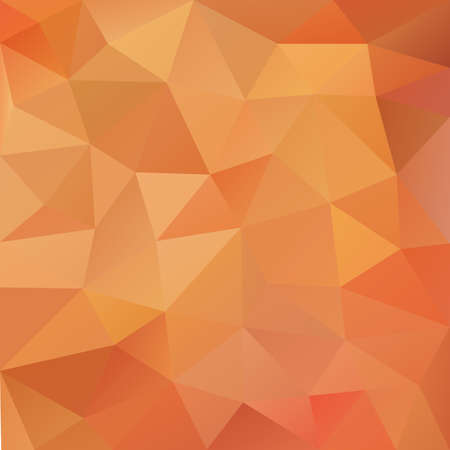 Abstract polygonal background in bright orange colors