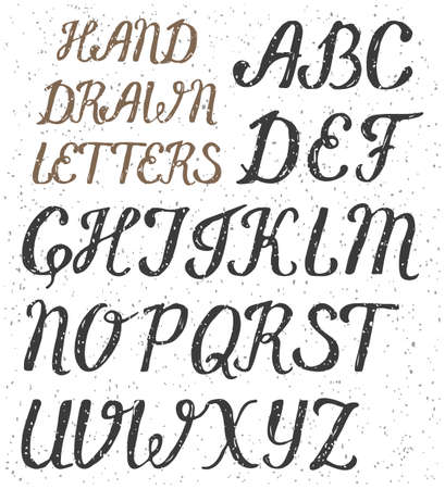 Hand drawn uppercase letters of the English alphabet Çizim