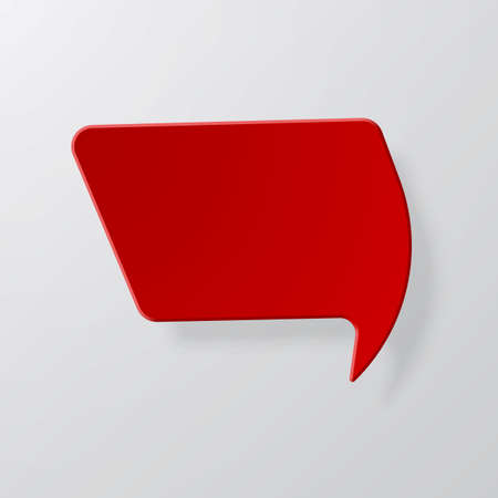 Bright red speech bubbles with the effect of paper and shadow