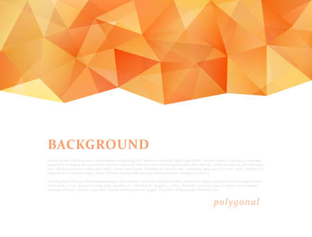 Abstract triangle pattern background advertising banner template Illustration