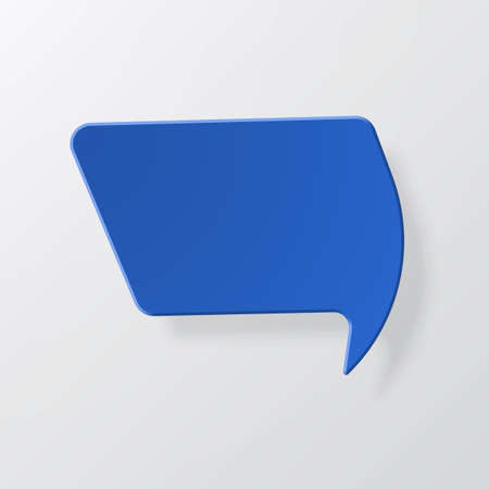 Bright color speech bubbles with the effect of paper and shadow