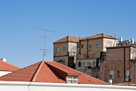 Old buildings and tiled roofs of the houses in Jerusalem  photo