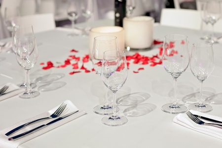 table set for wedding dinner photo