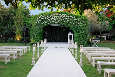 Jewish traditions wedding ceremony  Wedding canopy  chuppah or huppah   photo