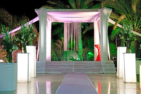 Jewish traditions wedding ceremony  Wedding canopy  chuppah or huppah   Stock Photo - 12925745