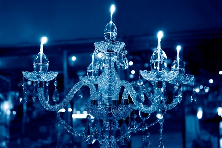crystal chandelier: crystal chandelier with five candles