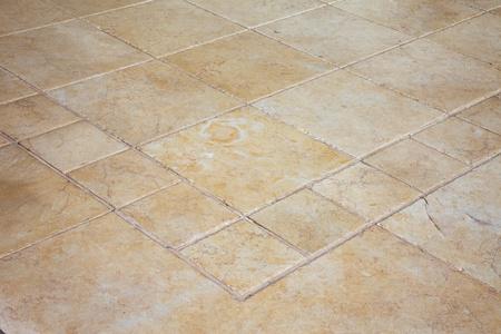 Large stone tiles on the floor  Stock Photo