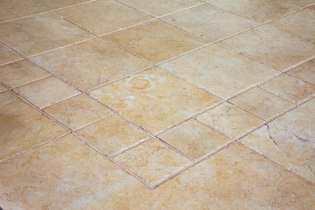 grout: Large stone tiles on the floor  Stock Photo
