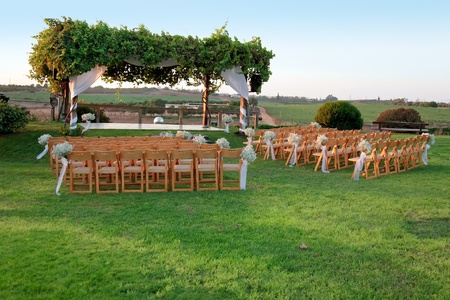 outdoor wedding: Jewish traditions wedding ceremony  Wedding canopy  chuppah or huppah
