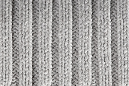 Gray knitted horizontal textured background  photo