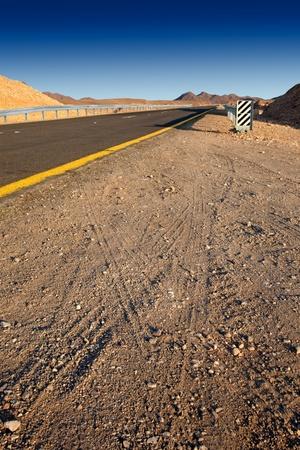 Desert highway   Israel - Judean desert Stock Photo - 13128127