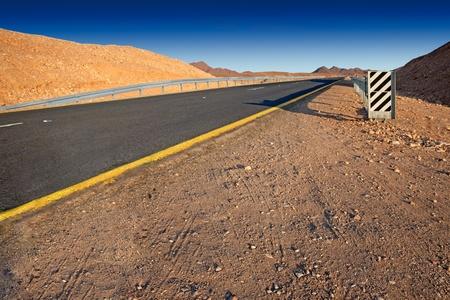 Desert highway   Israel - Judean desert  Stock Photo - 13128122