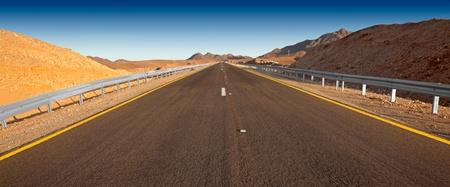 Desert highway   Israel - Judean desert  Stock Photo - 13186264