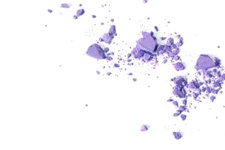 crushing: Crushed makeup on white background  The eye shadows