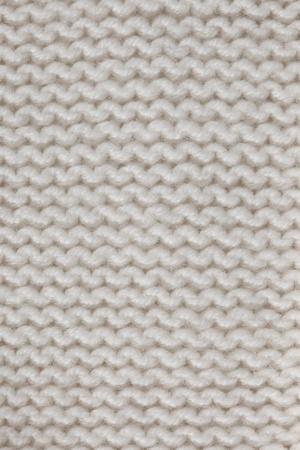 woolen fabric: De punto blanco con textura de fondo horizontal