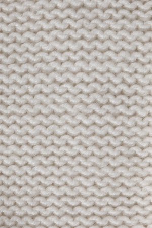 cloth manufacturing: White knitted horizontal textured background