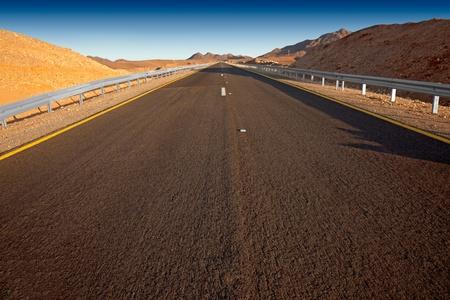 Desert highway   Israel - Judean desert  Stock Photo - 13240294