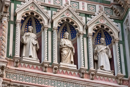 Detail of Cathedral Church Duomo basilica di santa maria del fiore in Florence, Italy photo